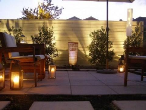 Iluminaci n moderna para terrazas for Pisos de piedra para terrazas