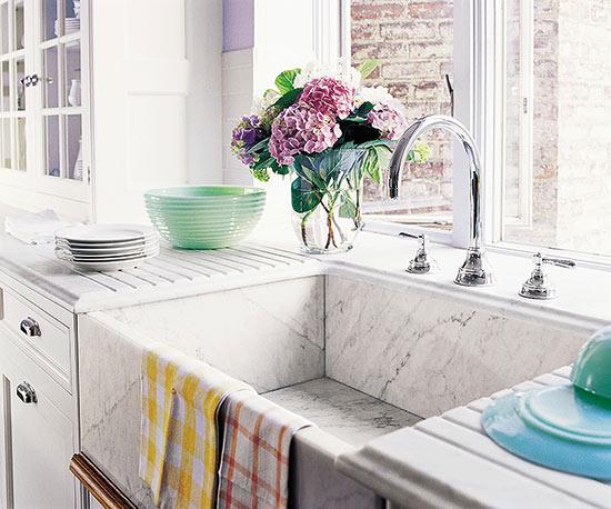 Lavabos para cocinas de estilo cottage for Fregaderos de porcelana para cocina