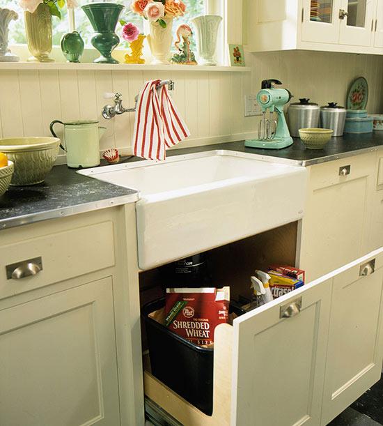 ventanal de la cocina sobre el fregadero