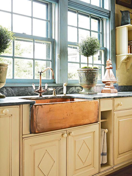 lavabos cocina estilo cottage