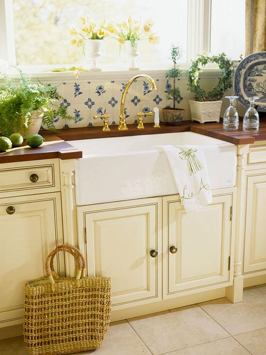Lavabos cocina estilo cottage 9 | Guía para Decorar