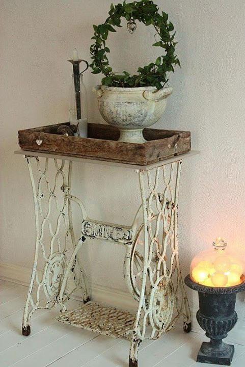 m quinas de coser un detalle vintage e industrial. Black Bedroom Furniture Sets. Home Design Ideas