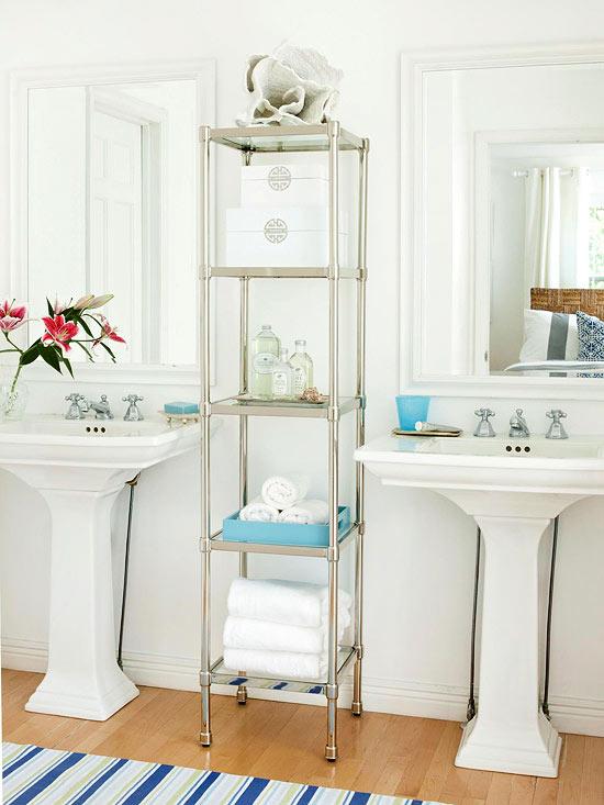 Propuestas de organizaci n y almacenamiento para el ba o for Colgar toallas ducha