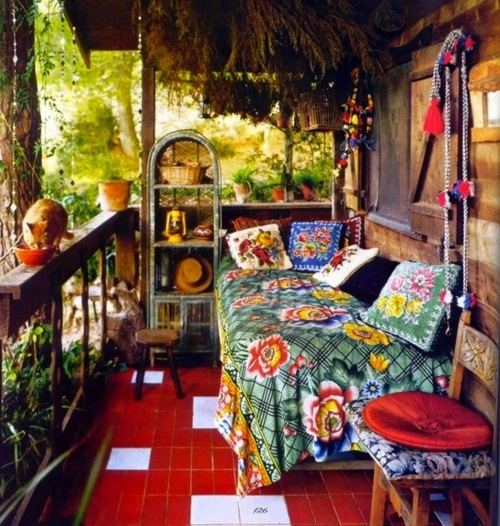 Porche estilo bohemio y marroqui 10
