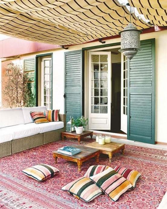 Porche estilo bohemio y marroqui 12