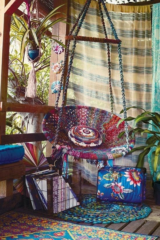 Porche estilo bohemio y marroqui 17