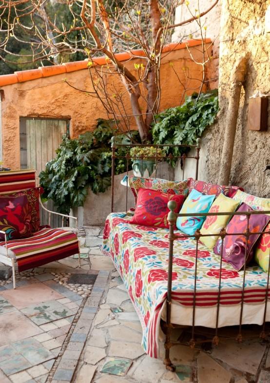 Porches de estilo bohemio e influencia marroqu - Muebles estilo marroqui ...