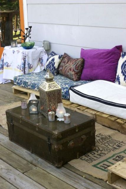 Porche estilo bohemio y marroqui 4