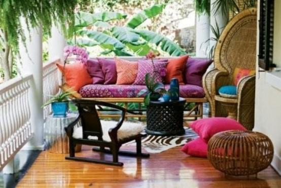 Porche estilo bohemio y marroqui 5