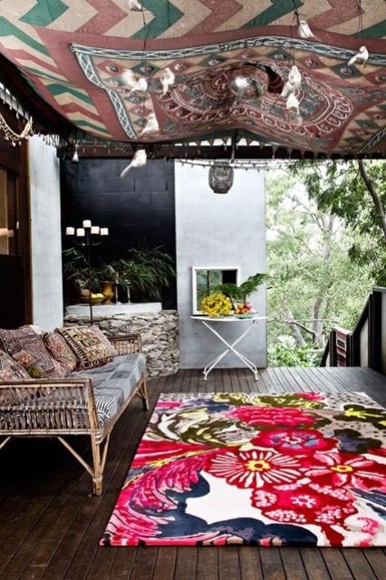 Porche estilo bohemio y marroqui 7