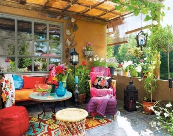 Porche estilo bohemio y marroqui 9