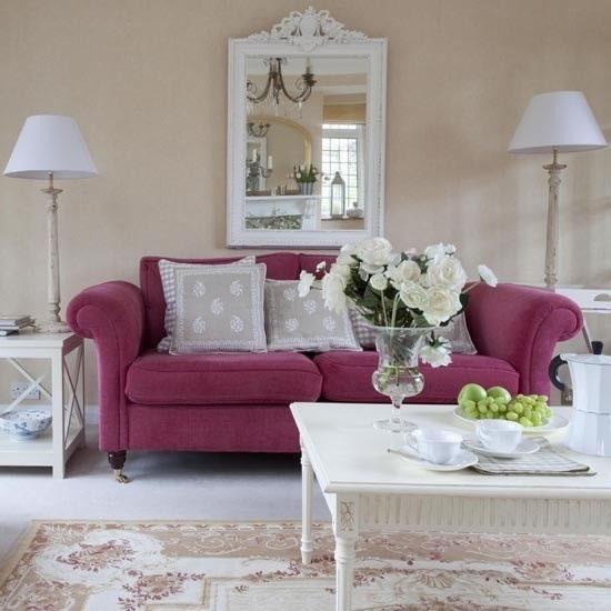 sof s en rosa. Black Bedroom Furniture Sets. Home Design Ideas