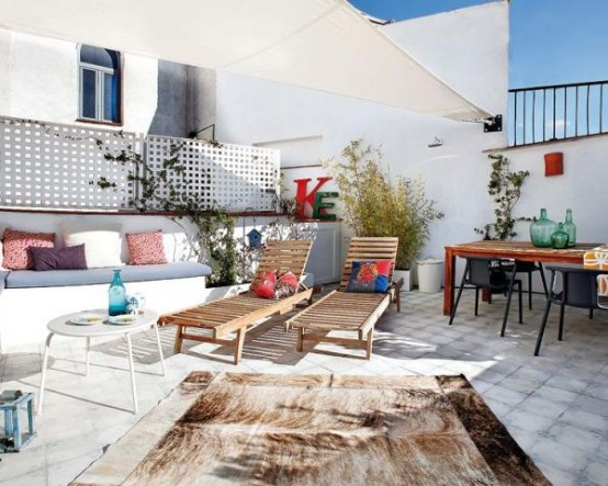 Terrazas y galer as de estilo escandinavo - Patios con estilo ...