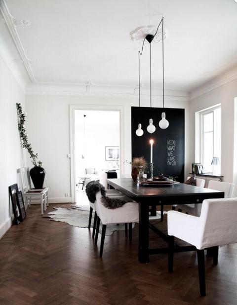 Apartamento en estilo n rdico con contraste de colores for Decoracion pisos retro