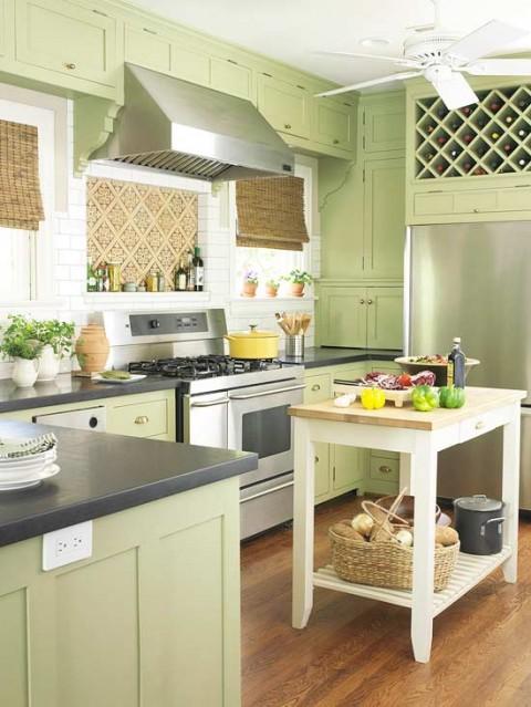 Accesorios baño verde pistacho: fotos de cuartos baÑo en color ...