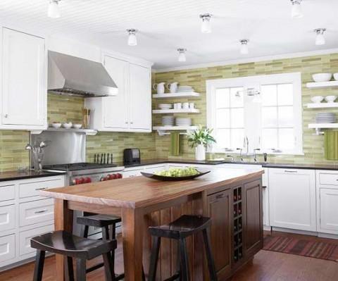 Cocinas En Color Verde Pistacho