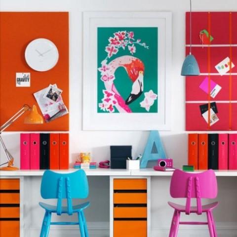 Oficinas en casa a todo color 1