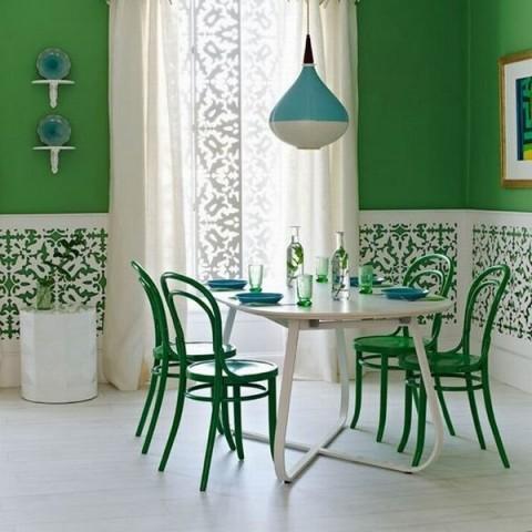 Decora el comedor con tres colores - Pinturas para comedores modernos ...