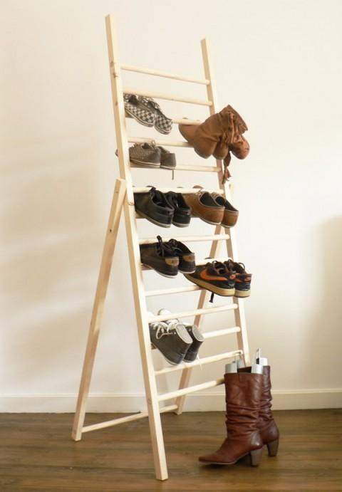 Escaleras de mano grandes organizadores de zapatos - Organizador de zapatos casero ...