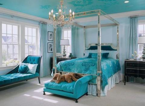 Habitaciones románticas en color azul