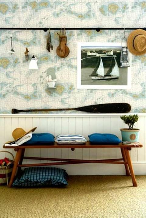 Detalles para un recibidor de estilo marinero - Muebles estilo marinero ...