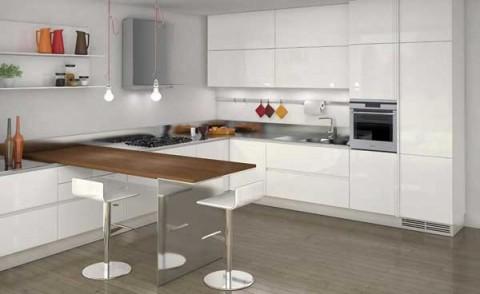 C mo integrar peque os comedores dentro de la cocina - Cocinas practicas y modernas ...