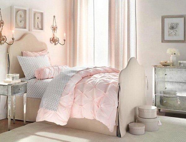 Habitaciones Para Chicas En Rosa Y Blanco - Dormitorios-chicas