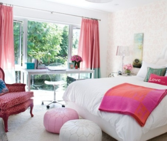 Habitaciones para chicas en rosa y blanco for Habitaciones de chicas
