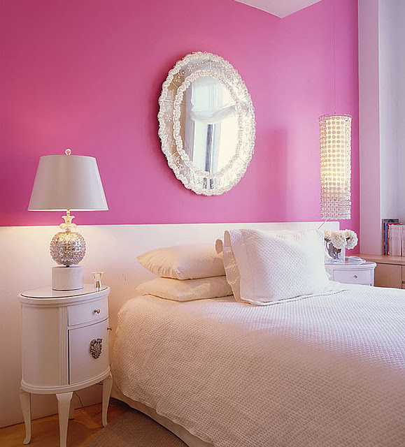 white and pink bedroom habitaciones para chicas en rosa y blanco 17802