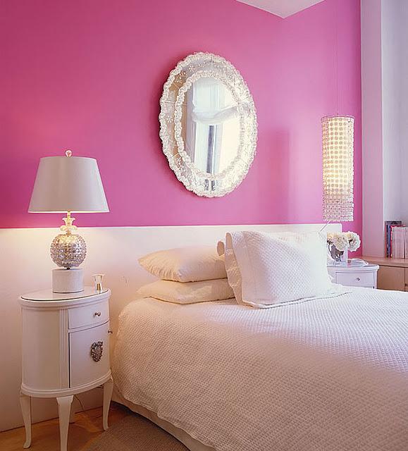 Habitaciones para chicas en rosa y blanco ~ Quarto Rosa Fucsia