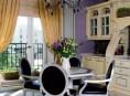 imagen Apartamento Art Déco con detalles en color violeta y oro