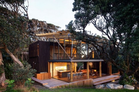 Cabaña de madera natural 1