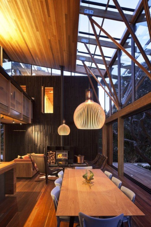 Una casa de madera natural en nueva zelanda - Ambientador natural para casa ...