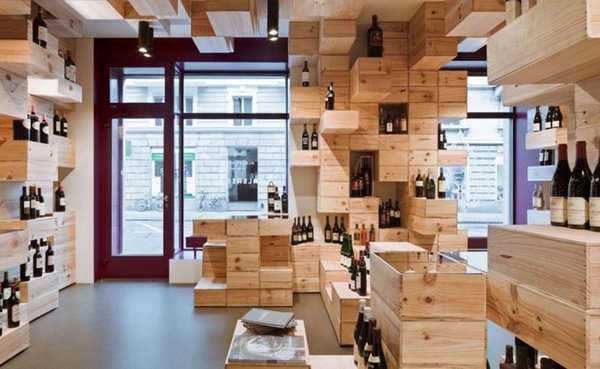 Decoración interior de una vinoteca 1