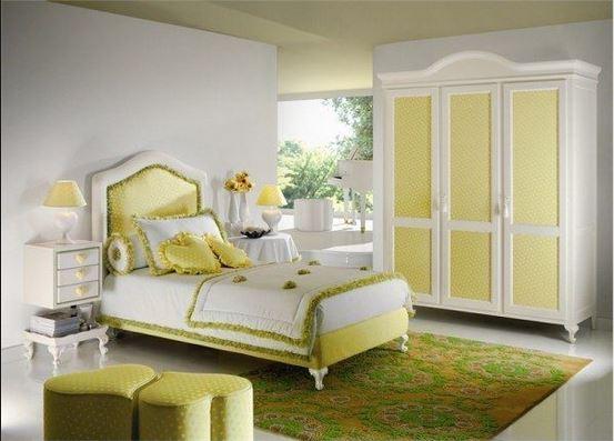 Habitaciones románticas en verdes 1