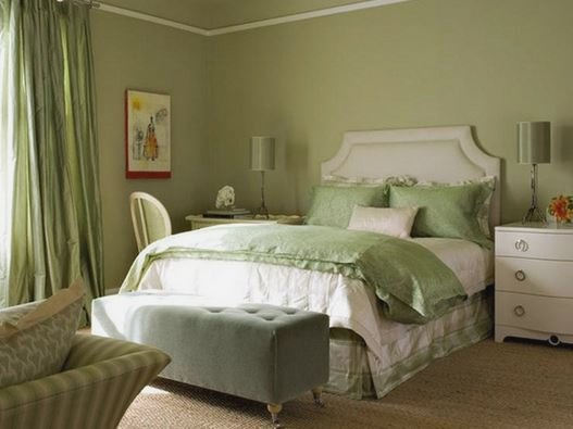 habitaciones rom nticas con detalles en color verde. Black Bedroom Furniture Sets. Home Design Ideas