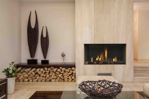 Muros y paredes decoradas con troncos de rbol - Decoracion muros interiores ...