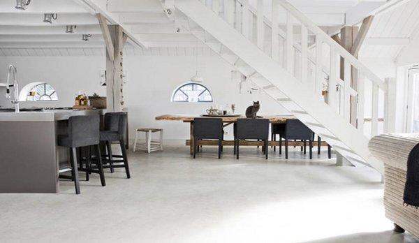 Suelos de cemento y microcemento pulido for Suelos de cemento para interiores