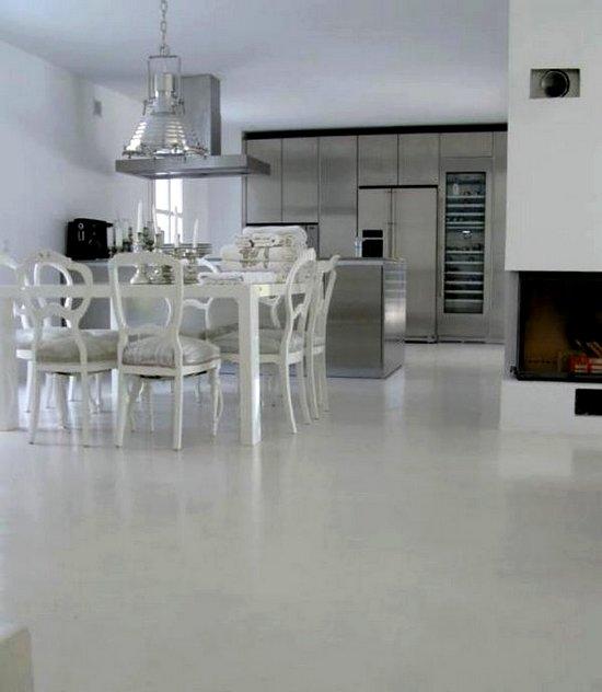 Suelos de cemento y microcemento pulido for Pintar suelo ceramico