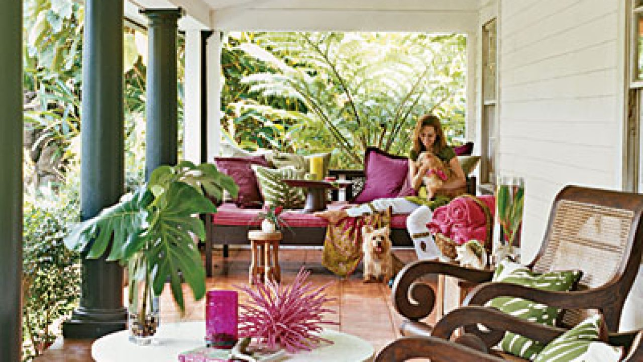 Terrazas Y Galerías Urbanas De Estilo Tropical