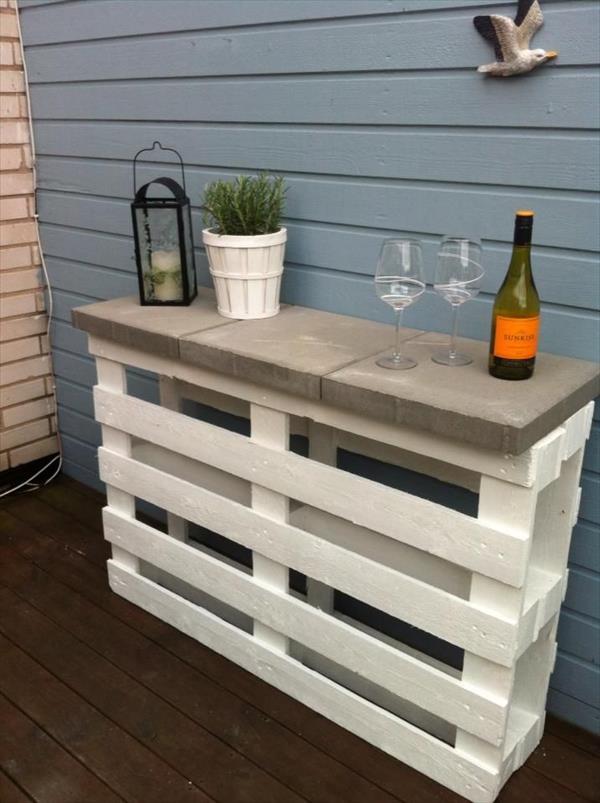 Mesas con palets DIY 2