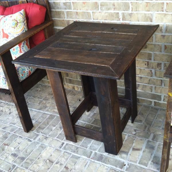 5 nuevas mesas hechas con viejos palets - Macetas hechas con palets ...