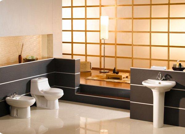 Cuartos de ba o de estilo oriental for Muebles de bano con estilo