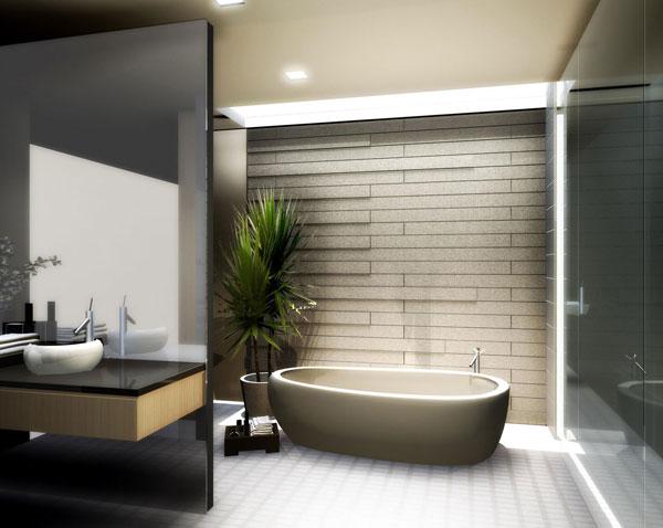 Cuartos de baño de estilo oriental