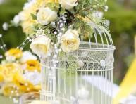 imagen Centros de mesa con jaulas de ave