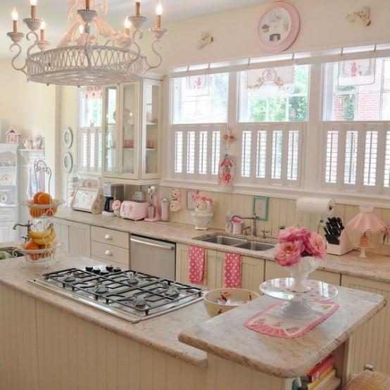Cocina decorada como pastelería retro 1