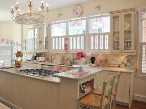 Cocina dise ada con el encanto de una pasteler a retro for Cute country kitchen ideas