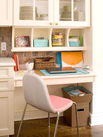 Pequeña oficina en la cocina 1