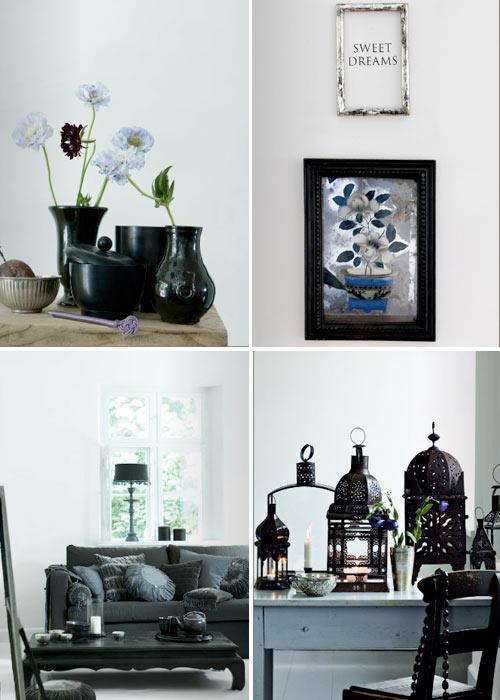 Decorar con accesorios en negro for Accesorios para decorar