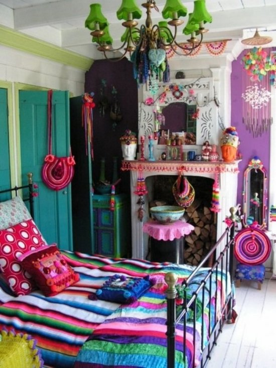 7 dormitorios con estilo boho chic for Ideas para decorar habitacion hippie